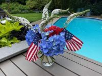 Barney's July 4 Floral Arrangment