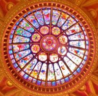 Stained Glass dome ceiling