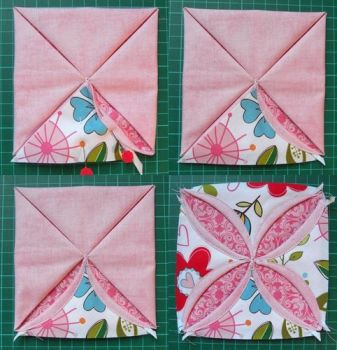 cathedral window quilt how-to
