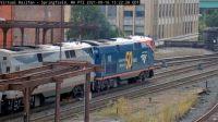 Amtrak engines #108 & #117 at Springfield,Mass/USA