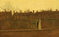 """John Atkinson Grimshaw, """"In the Golden Gloaming"""""""