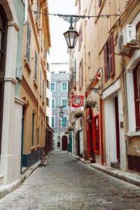 Cobbled stone street in Gibraltar