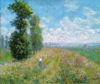 Claude Monet - Meadow with Poplars, about 1885 - especially for Lunie (Mar17P44)