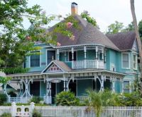 Turquoise Victorian Mansion
