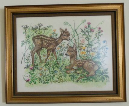 Fawns - Thread count embroidery