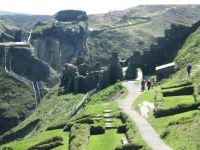 Tintagel-castle,ruins, Cornwall.