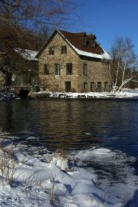 mill in winter