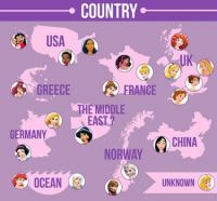 Disney Princess Map