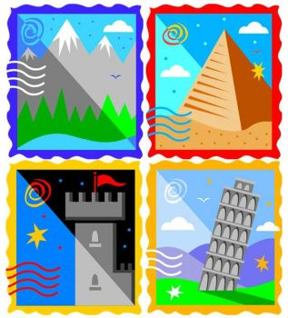 Theme, stamps: travel