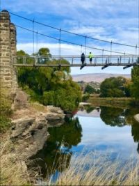 Swinging across the river