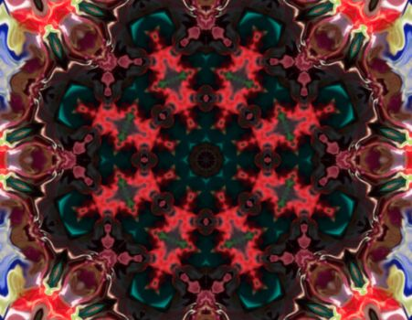 Another Silk Fabric Kaleidoscope