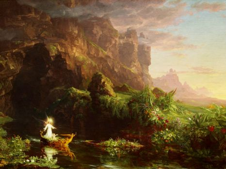 Thomas Cole - The Voyage of Life: Childhood (1842)