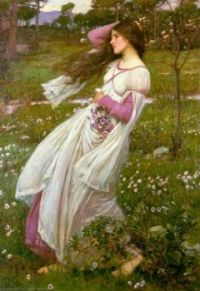 John William Waterhouse--Windflowers (Windswept), 1902