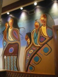 native art on wall