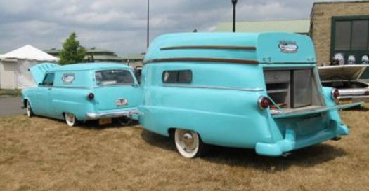 1954 Ford station wagon and matching trailer