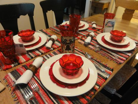 Striped Table Mats