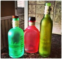 Make Your Own Sea Glass Bottles