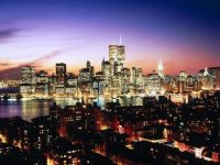 Lower Manhattan as seen from Brooklyn Heights, New York
