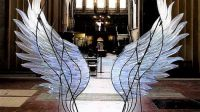 Glass-blower Layne Rowe's stunning angel wings sculpture at Ely Cathedral's Lady Chapel.
