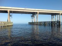 Cruising under Ochlockonee Bay Bridge on a sunnier but not necessarily warmer day !