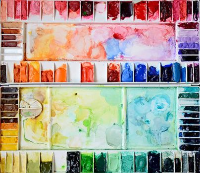 Messy Watercolor Palette