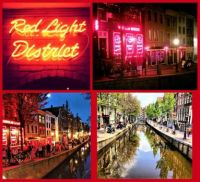 THEME:   RED ... Red Light District  De Wallen, 1012 Amsterdam, Netherlands