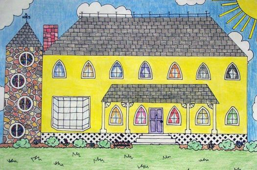 middle school student - house rendering