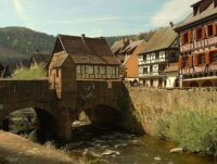 Bridge in Kaysersberg, France--PB