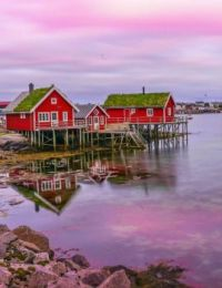 Early Morning At The Fishermen's Houses -- Norway...