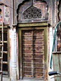 Old door in India