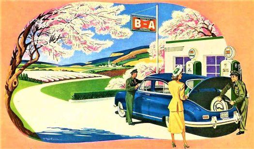 Themes Vintage ads - British America Oil 1949
