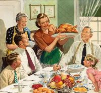 Themes Vintage illustrations/pictures - Happy Thanksgiving