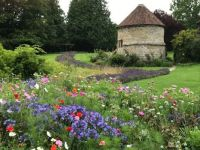 Looking towards the Lavender Path, Allington Castle, Maidstone, Kent