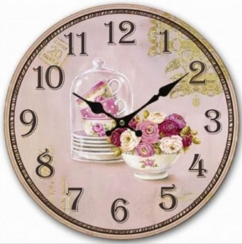 Retro flowers clock.