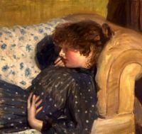 Philip Wilson Steer  Girl on a Sofa