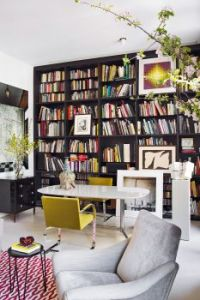 Eclectic Home Library