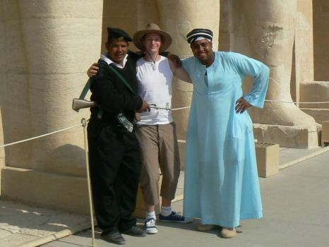 Me and 2 friendly egyptians