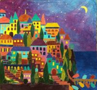 Cinque Terre at Night by Pam Zeck, Venice, FL