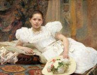 Vlaho Bukovac  (Croatian, 1855–1922), Miss Berger