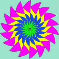 5 color many pointed circle