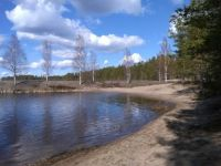 The beach in May - by the road 557, Finland