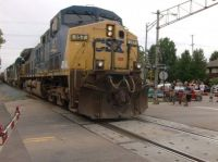 Stealing The Show  -  Northbound CSX Rolling Through