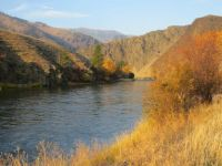 Cold autumn morning on the Salmon River