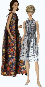 Vogue 1960's MuMu Dress Pattern