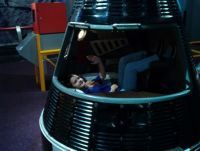 Inside an actual space capsule at Cape Canaveral