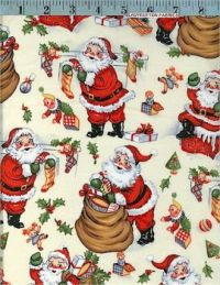 Vintage Style Christmas Fabric