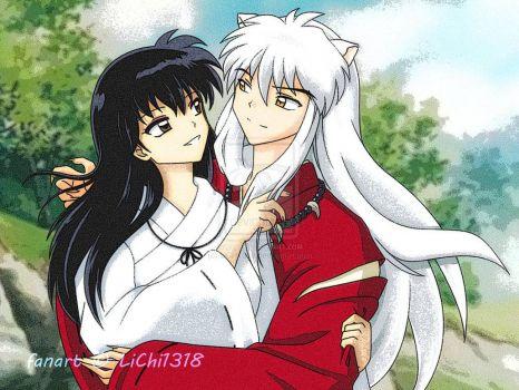Inuyasha and Kagome (not my drawing)