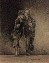 drwg, Liz & Leonard Holloway dancing