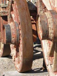 20 Mule Team wheels--Death Valley