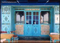 Windows reflecting the sea...Tunisia